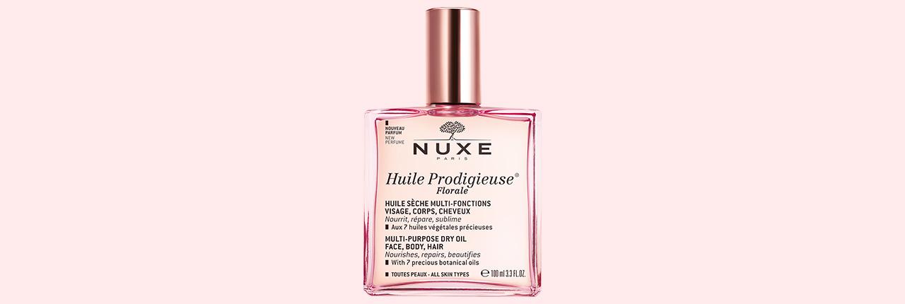 Retrouvez tous les produits de la gamme Nuxe Prodigieuse ainsi que la nouvelle Huile Prodigieuse Florale de Nuxe au prix tout doux de 21,90 € sur la parapharmacie en ligne Naocia !