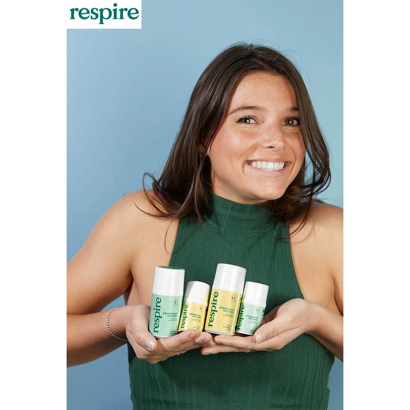 marque Respire déodorant et solaire